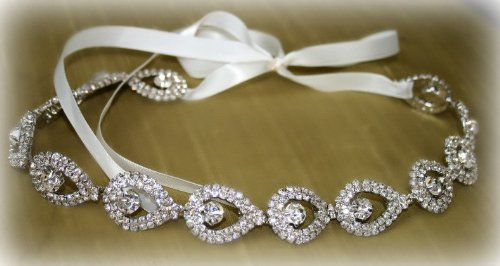 Bridal Headband, Wedding Belt Sash or Headwrap by Meela