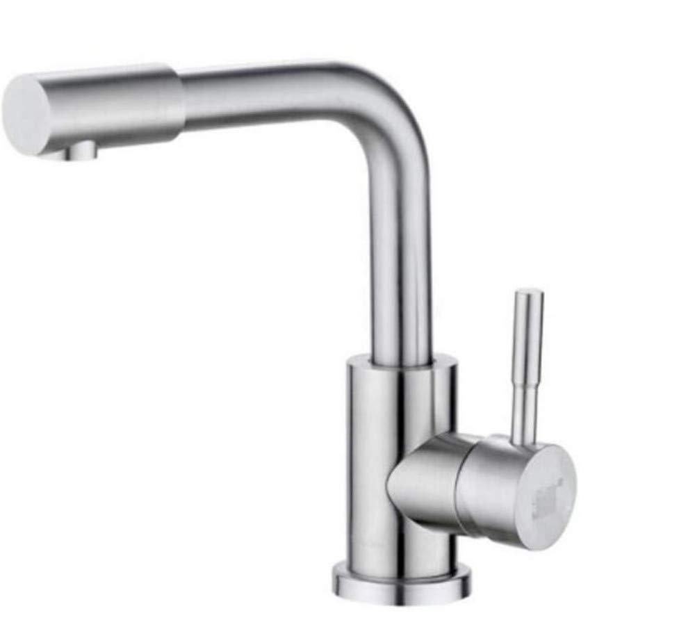 Küche Bad Wasserhahnwasserhahn Mischer-Schwenker-Hahn-Wannen-Edelstahl-Becken-Heißer Und Kalter Wasserhahn