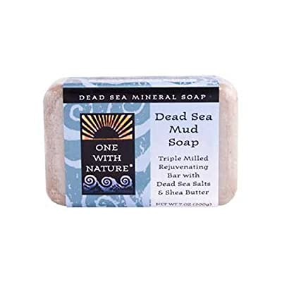 One With Nature Dead Sea Mud Bar Soap, 7 Ounce - 2 per case.