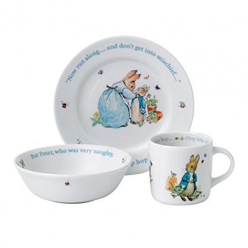 Wedgwood Peter Rabbit 3-Piece - Set Child Piece Dinnerware 3