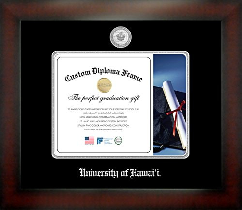 University of Hawai'i 8 x 10 Mahogany Finish Infinity Diploma Frame by Celebration Frames by Celebration Frames