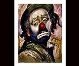 Sad Clown Canvas Art Print