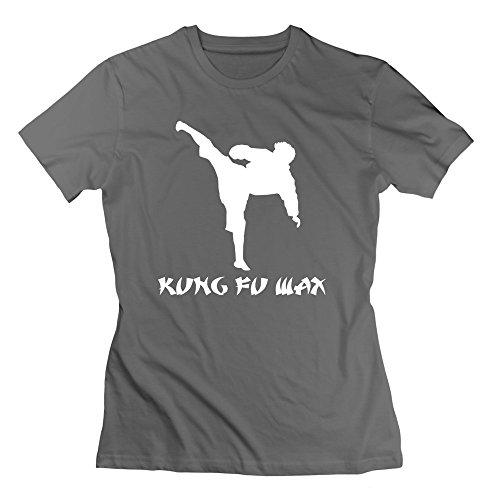 Qincent Womens Pre-cotton T Shirt Kung Fu