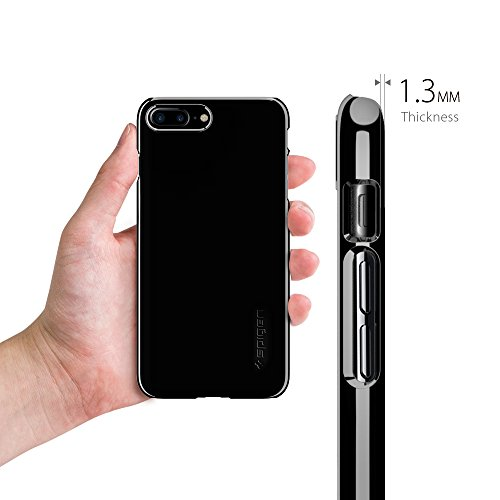 iphone 7 colors jet black. spigen thin fit iphone 7 plus case with jet black optimized color and premium glossy finish coating qnmp compatible for - black: iphone colors