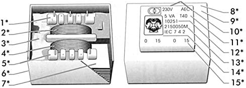 TRANSFORMATEUR MOULE 2.5VA 220V 2 x 9V 2 x 0.139A