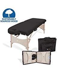 """EARTHLITE Portable Massage Table HARMONY DX – Eco-Friendly Design, Hard Maple, Superior Comfort, Deluxe Adjustable Face Cradle, Heavy-Duty Carry Case (30"""" x 73"""")"""