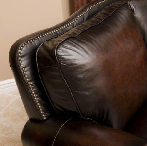 Amazing Amazon.com: Abbyson Venezia 4 Piece Brown Leather Sofa Set Hand Rubbed Top  Grain Leather Nail Head Trim Sofa, Loveseat, Chair U0026 Ottoman: Kitchen U0026  Dining