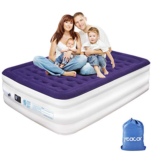 Yeacar dgfdgdg Air Mattress Blow up Raised Airbed, Portable Inflatable Bed (Traditional Pump Queen Size), Upgraded (Plastic Raised Beds Best Price)