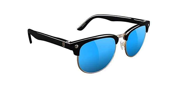 7d8a0e4ae9 Amazon.com  Glassy Morrison Polarized Half Rim Black Blue Sunglasses ...