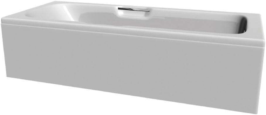 1700mm x 700mm Home Standard/® Venice Bathroom Straight Single Ended Bath Tub Acrylic Grab Handles