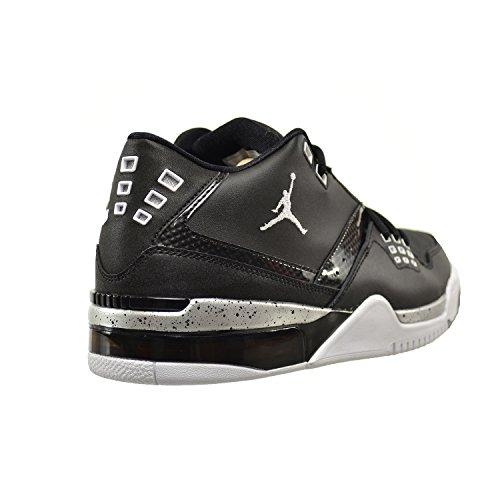 reputable site 8f637 ea6ef lovely Jordan Flight 23 Men s Shoes Black White-Metallic Silver 317820-011