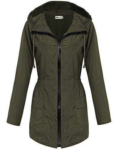 Hotouch Lightweight Waterproof Raincoat Windbreaker