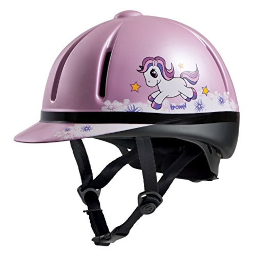 Troxel Legacy Childrens Horse Riding Safety Helmet ♦ Low Profile English Schooling Helmet (Pink Unicorn) (Spirit Schooling Helmet Troxel)