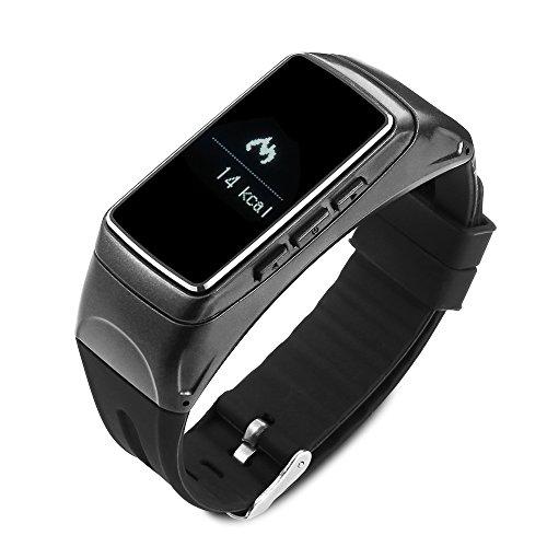 (PADY 0.91 Inch Jakcom B3 Multifunctional 2 in 1 Smart Watch Detachable Wireless Headset Bluetooth Earphone Smart Bracelet Handsfree Fitness Tracker for Android (Black))
