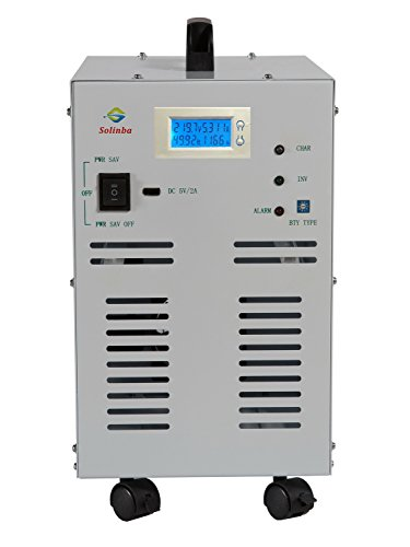 Solinba 4KW(Peak 12KW) Off Grid Power Inverter Pure Sine Wave 80A Battery Charge Function DC24v to AC110v Converter Generator 60Hz+LCD Display