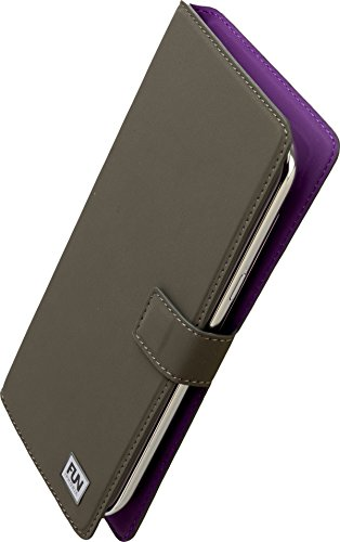 Iphoria Fun Trend Book Case Uni XXL5.7 für Apple iPhone 6 Plus/Samsung N910 Galaxy Note 4 dunkelgrau
