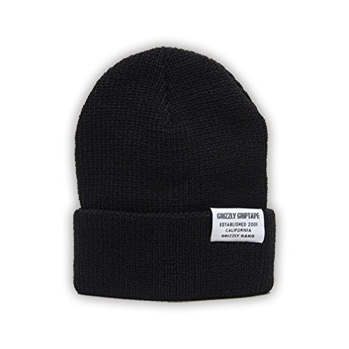 Grizzly Griptape Certified Beanie Cuffed Hat Black One Size by Grizzly Grip Tape