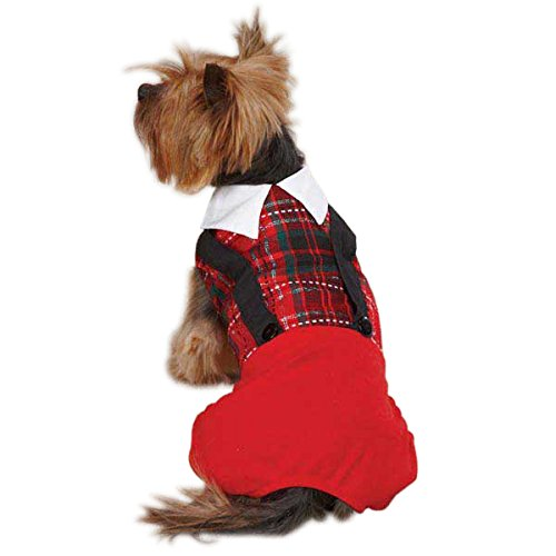 East Side Collection ZM4234 14 83 Yuletide Tartan Jumper for Dogs, Small Medium, Red