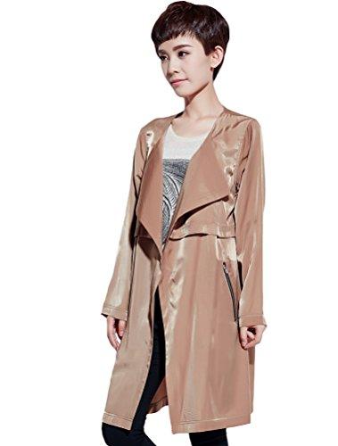 MatchLife - Abrigo - para mujer Style3-Khaki