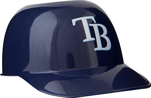 Official MLB Mini Baseball Helmet 8oz Ice Cream/Snack Bowls, 1 Count, Tampa Bay Rays