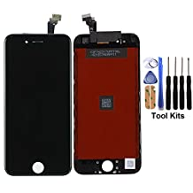 cellphoneage For iPhone 6 4.7 Inch New LCD Touch Screen Replacement Digitizer Assembly Repair Replacement Black with Free Repair Tool Kits