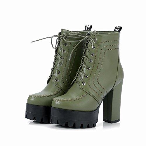 Oxford Dark Heel High Ankle Green Womens Platform Block Latasa Boots nHFSPP