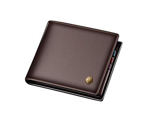 Mens Genuine Leather Long Purse Business Wallet Money Clip