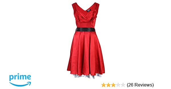 ea8409bdd88 Amazon.com  Red 1950 s Valentine s Day Dress Vintage Style Sweetheart Full  Circle Party Cocktail Prom – Size US 14  Clothing