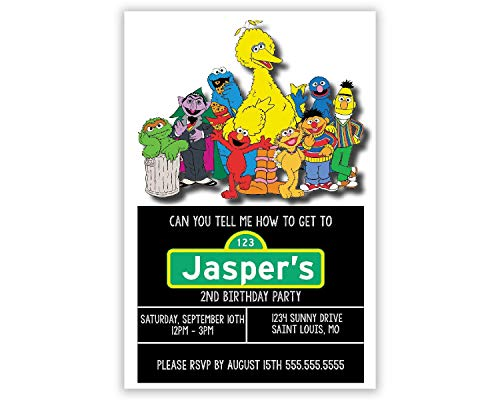 Sesame Street | Birthday Party Invitation | ()