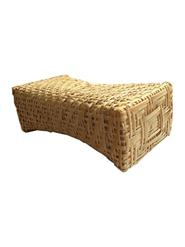 Rattan Pillow - BambooParkJapan Japanese Wickerwork Rattan Bed Pillow Fuji 7.8 X 3.9 X 2.7 Inches