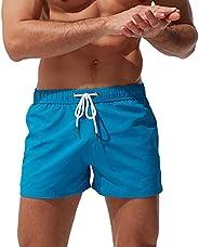 HOLL Men's Beach Pants Pocket Zipper Surf Shorts Casual Fashion Swimming Tr