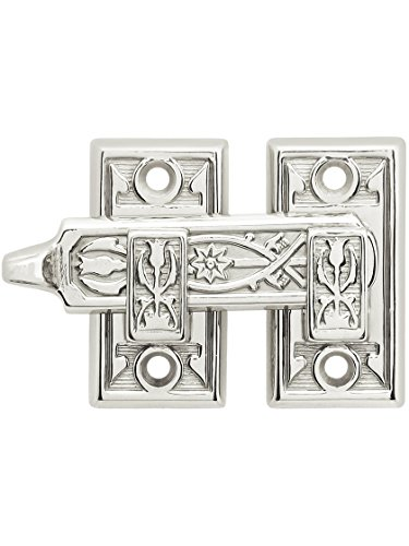 Ornate Shutter Bar - Reversible for Right Hand and Left Hand in Polished Nickel - Shutter Bar