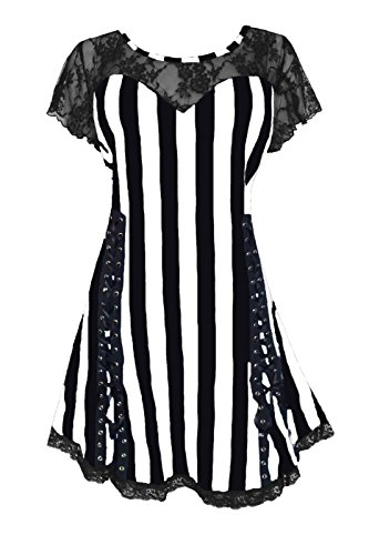 Dare to Wear Victorian Gothic Boho Women's Plus Size Roxanne Corset Top Beetlejuice 5X