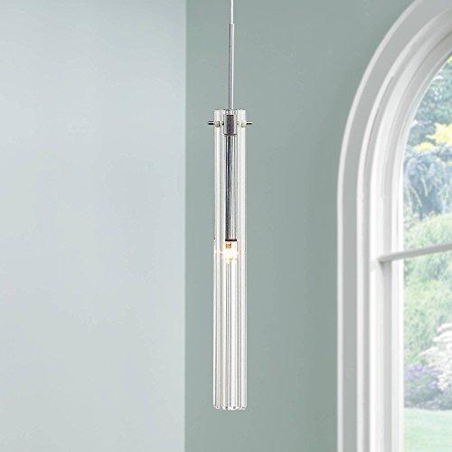 - Possini Euro Design Clear Glass Tube Mini Pendant Light - Possini Euro Design