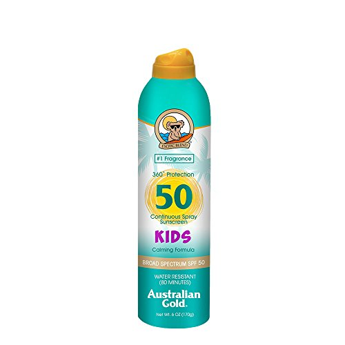 Australian Gold Kids SPF 50 Continuous Spray Sunscreen, 6 Fl Oz by Australian Gold