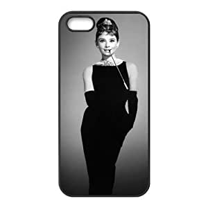 AUDREY HEPBURN New Printed Case for Iphone 5,5S, Unique Design AUDREY HEPBURN Case