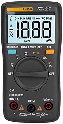 LHQ-HQ 8004 Handheld Digital Multimeter 6000 Counts Backlight AC/DC Ammeter Current Ohm and Voltmeter Meter