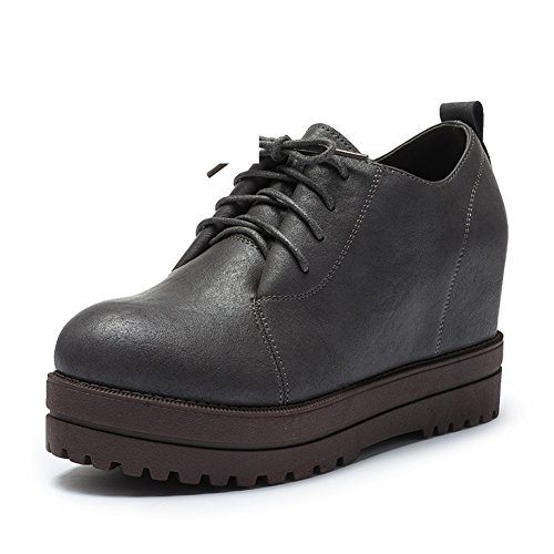 PUMPS Damen High Heels,Erhöhung Take Deep Shoes-C Fußlänge=23.3CM(9.2Inch)
