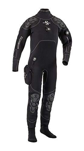 Scubapro Everdry 4 Dry Suit, Men's Scuba Diving Drysuit (Black/Silver, 4X-Large)