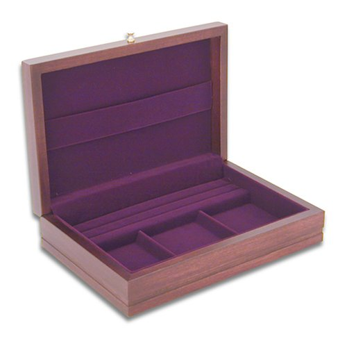 Man Of The Year Mahogany Jewelry Chest with Dior Red Lining