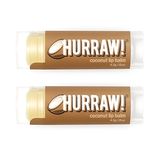 HURRAW! Coconut (2 Pack) Lip Balm: Organic, Certified Vegan, Certified Cruelty Free, Non-GMO, Gluten Free, All Natural – Luxury Lip Balm Made in the USA – COCONUT (2 Pack)