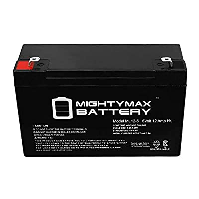 Mighty Max Battery ML12-6 .250TT - 6V 12AH Razor Bumper Buggie Battery Brand Product: Electronics