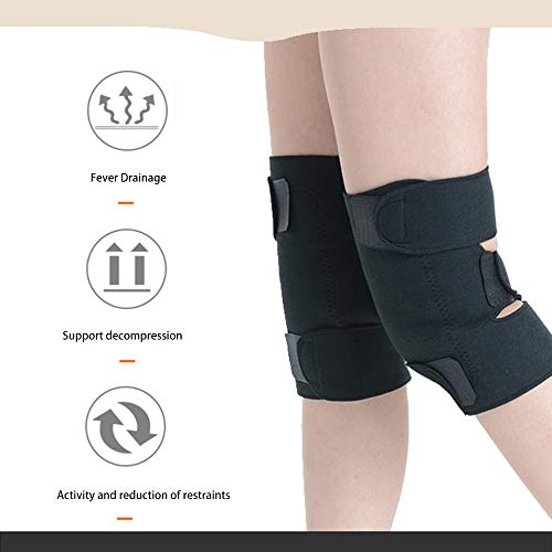 (A Pair Tourmaline Health Care Magnetic Therapy Self-heating Knee Pads Professional Knee Support Protection Fitness)