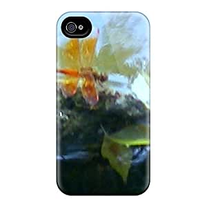 High Quality CarlHarris Red Dragonfly Skin Cases Covers Specially Designed For Iphone - 4/4s