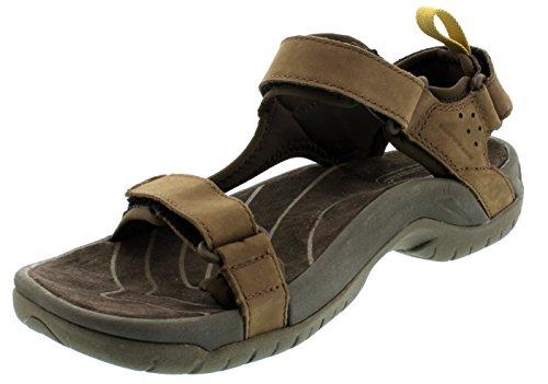 Teva Tanza Leather 9024 - Sandalias de cuero para hombre Marrón