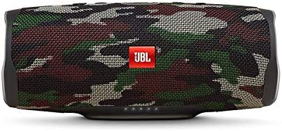 JBL Charge 4 Portable Waterproof Wireless Bluetooth Speaker Bundle with Anker 2-Port Car Charger – Camouflage