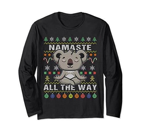 Koala Ugly Christmas Long Sleeve Shirt Namaste All The Way