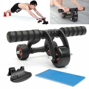 Price comparison product image Abdominal Roller Wheel -Abdominal Wheel Ab Roller - 3 Wheels Abdominal Roller Ab Muscle Fitness Workout Training System Gym Exerciser (Abdominal Roller Wheel New)
