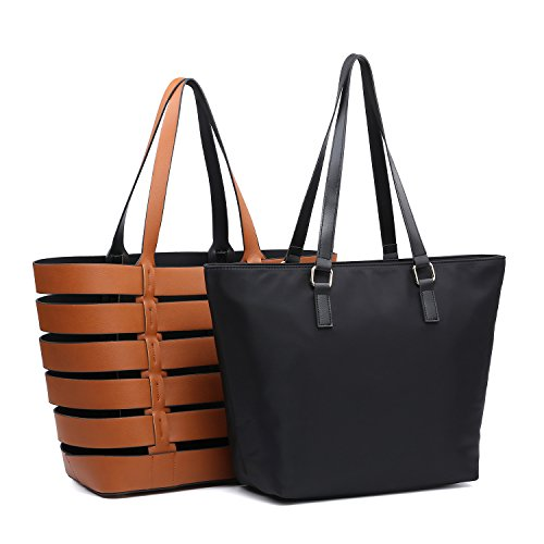 Woven Leather Handbags - 6