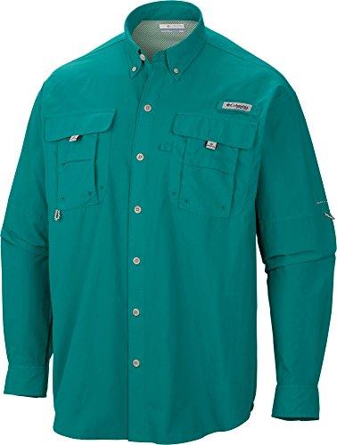 - Columbia Sportswear Men's Bahama II Long Sleeve Shirt (Emerald City, 3X/Tall)